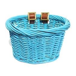 Colorbasket 01501 Kids Front Handlebar Wicker Bike Basket, L