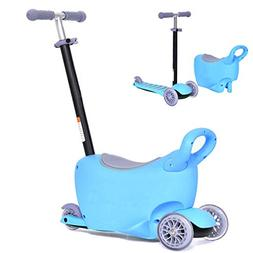 Costzon 3 in 1 Kids Scooter, Push Ride on Tricycle W/ Remova