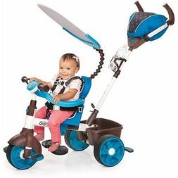 4-in-1 Sports Edition Trike Tricycle, Blue / White