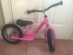 Schwinn 12-Inch Balance Bike, Pink New