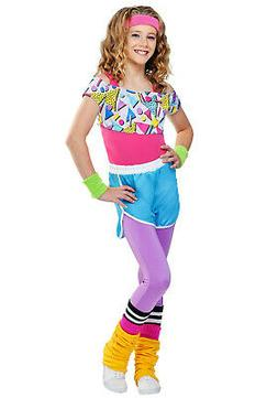 Work It Out 80s Costume For Girls Medium