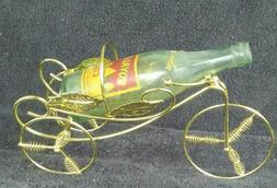 12 INCH L FASHION GOLD COLOR METAL TRICYCLE BOTTLE OR PLANT