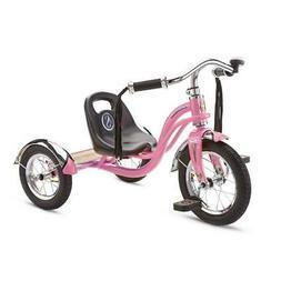 12 Inch Pink Trike Bike Roadster Tricycle Retro Low Adjustab
