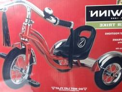 "Schwinn 12"" Roadster Kids Trike Bike Chrome Red Retro Tricyc"