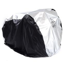 SAVFY Bike Cover for 2-Bike, 180T Outdoor Waterproof Bicycle