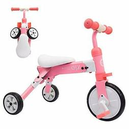 2 in 1 Kids Tricycles for 2 3 4 Years Old and Up Boys Girls