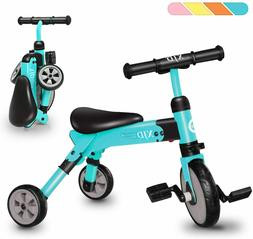 2 in 1 Kids Tricycles For 2-4 Years Old Kids Toddler 3 Wheel