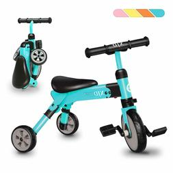 2 in 1 Kids Tricycles for 2 Years Old and Up Boys Girls Tric
