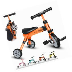 XJD 2 in 1 Kids Tricycles for 2 Years Old and Up Boys Girls