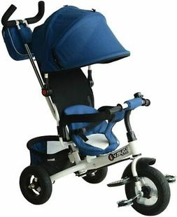 2-in-1 Lightweight Steel Adjustable Convertible Baby Tricycl