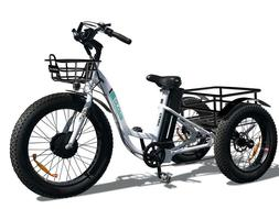 """2019 Electric Fat Tire Electric Trike Tricycle 500W 24""""Fat T"""