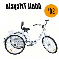 24 3 wheel 7 speed adult tricyclebike