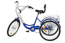 "Komodo Cycling 24"", 6-speed Adult Tricycle #7002 - Falcon"