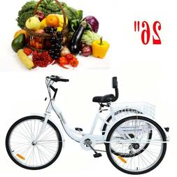 24 adult tricycle 3 wheel shimano 6