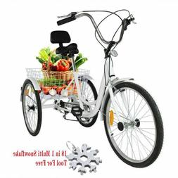 24 inch adult tricycle 3 wheel shimano