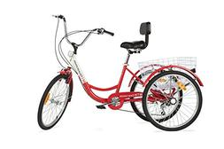 "Komodo Cycling 24"", 6-speed Adult Tricycle #7002 - Rouge"