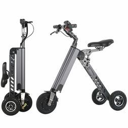 250W Electric 3-wheels Bike Folding Brushless Motor Trike fo