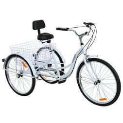 """26"""" 7-Speed Adult 3-Wheel Tricycle Trike Bicycle Bike Cruise"""