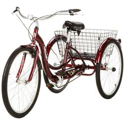 "26"" Schwinn Meridian Adult Tricycle Cherry Trike 3 Wheel Bik"
