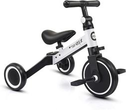 3 in 1 Kids Tricycles for 1-3 Years Old Trike 3 Wheel Toddle