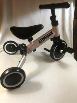 3 in 1 Kids Trike Tricycle Baby Balance Bike Toddlers w/ Rem
