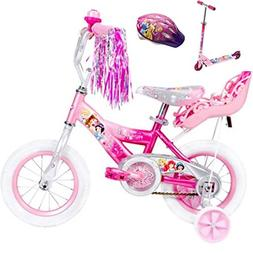 "Bundle – 3 items 12"" Huffy Disney Princes Girls' Bike with"