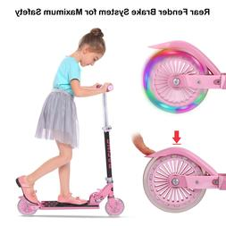 3 Wheel Kick Scooter. For Kids with LED Rear Lights Wheels B