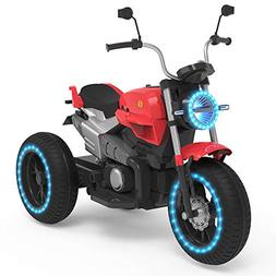 HOVERHEART Kids 3 Wheels Electric Tricycle Ride on Motorcycl