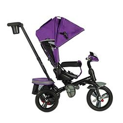 Evezo 302A 4-in-1 Parent Push Tricycle for Kids, Stroller Tr