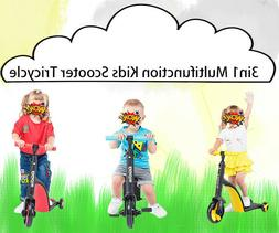 3in1 Multi-function Kids Scooter Tricycle Bicycle 1-5 Years