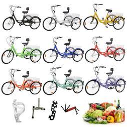 """3Wheel 24/26""""Tricycle Trike Adult Bike Bicycle Cruise 7/1-Sp"""