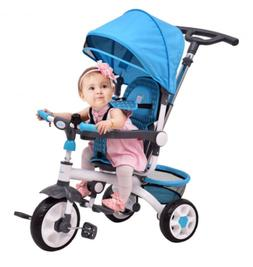 4 In 1 Detachable Baby Stroller Steering Classic Tricycle Wi