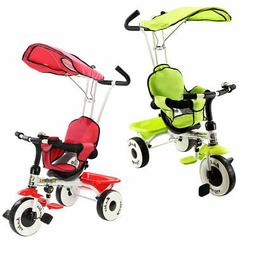 4-In-1 Kids Baby Stroller Tricycle Training Learning Toy Bik