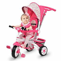 4-In-1 Kids Baby Stroller Tricycle Detachable Learning Toy B