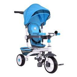 Costzon 4-in-1 Kids Tricycle Steer Stroller Toy Bike w/ Cano