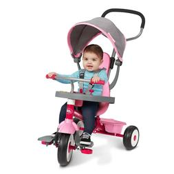 Radio Flyer, 4-in-1 Stroll 'N Trike with Activity Tray, Pink