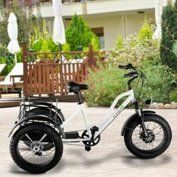 """48 V/22 A 500 W Electric Adults Tricycle With 20"""" Fat Tire A"""