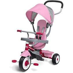 Radio Flyer 481PZ 4-in-1 Stroll N Trike - Pink Stroller To T