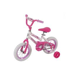 "Huffy 52896 12"" Steel Bicycle Frame Girls' Sea Star Bike, Wh"