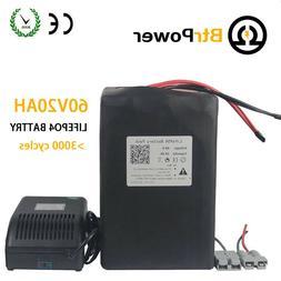 BtrPower 60V 20Ah Lithium li-ion Battery for Ebike Electric