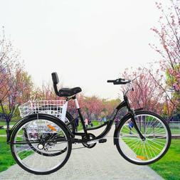 """Ridgeyard 7Speed Adult 26"""" 3-Wheel Tricycle Trike Bicycle"""