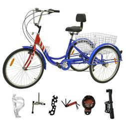 """7-Speed Adult 26"""" 3-Wheel Tricycle Trike Bike Bicycle Cruise"""