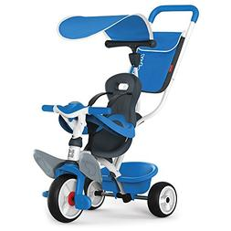Smoby 741102 Push Along Trike Tricycle, Blue