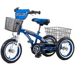 Tauki Kids Tricycle with Front and Rear Baskets, Ride-On Tod