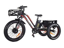Addmotor Motan Electric Tricycle 24 Inch Fat Tire Electric T