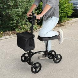 Adjustable Height  Heavy Duty Knee Walker Scooter w/Soft Pad