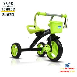 Adjustable Seat Kids Tricycle Rider Fits From 2 to 5 Years O