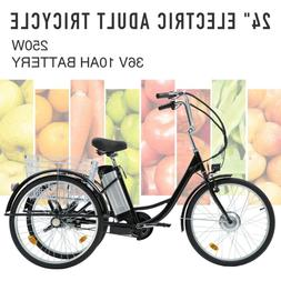adult electric tricycle 24 250w 36v 10ah