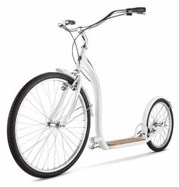 Adult Shuffle Scooter Schwinn With 26 Inch Wheels White Fron