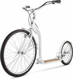 Schwinn Adult Shuffle Scooter with 26 Wheels White